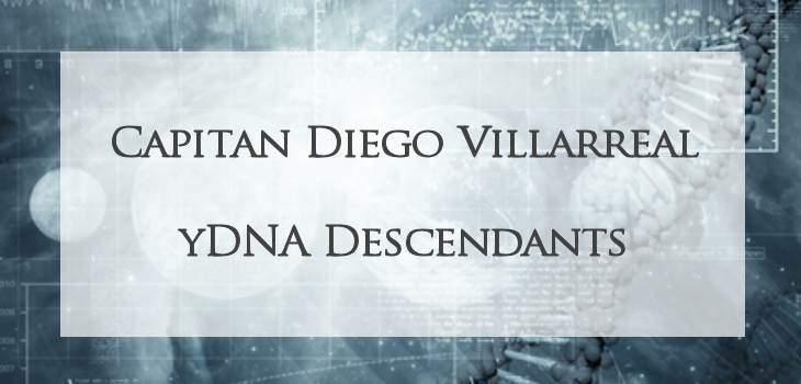 Diego Villarreal yDNA descendants
