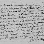 1695 Church Death Record of Pedro de la Garza in Monterrey, Nuevo Leon, Mexico