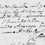 1672 Baptism of Josefa Gonzalez in Monterrey, Nuevo Leon, Mexico