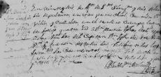 1756 Death Record of Maria Josepha Leal in Monterrey N. L. Mexico