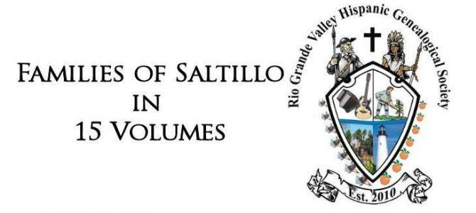 Familes of Saltillo, Coahuila in 15 Volumes