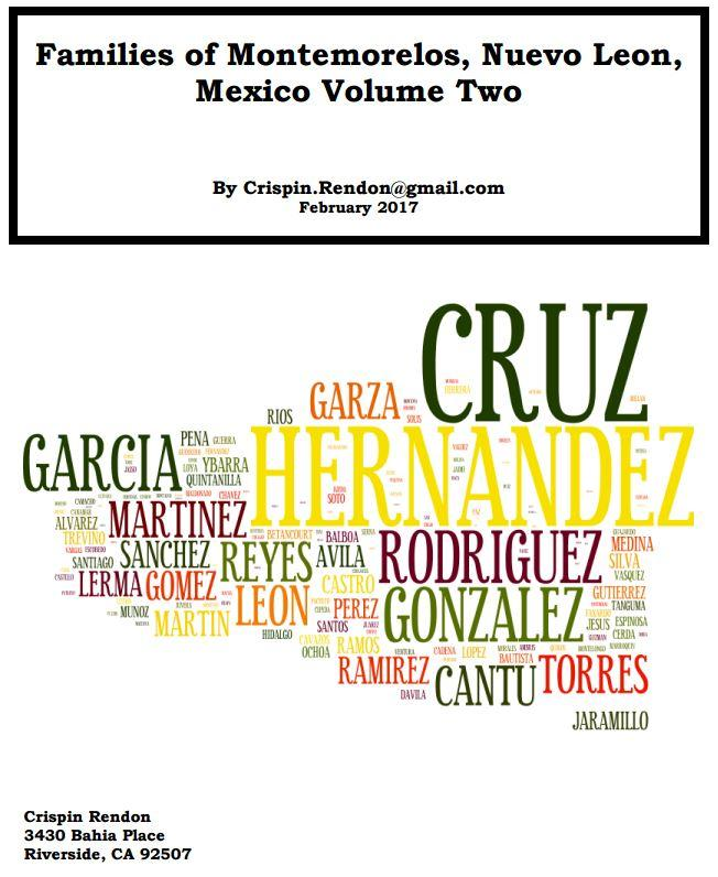 Families of Montemorelos, Nuevo Leon, Mexico Volume Two