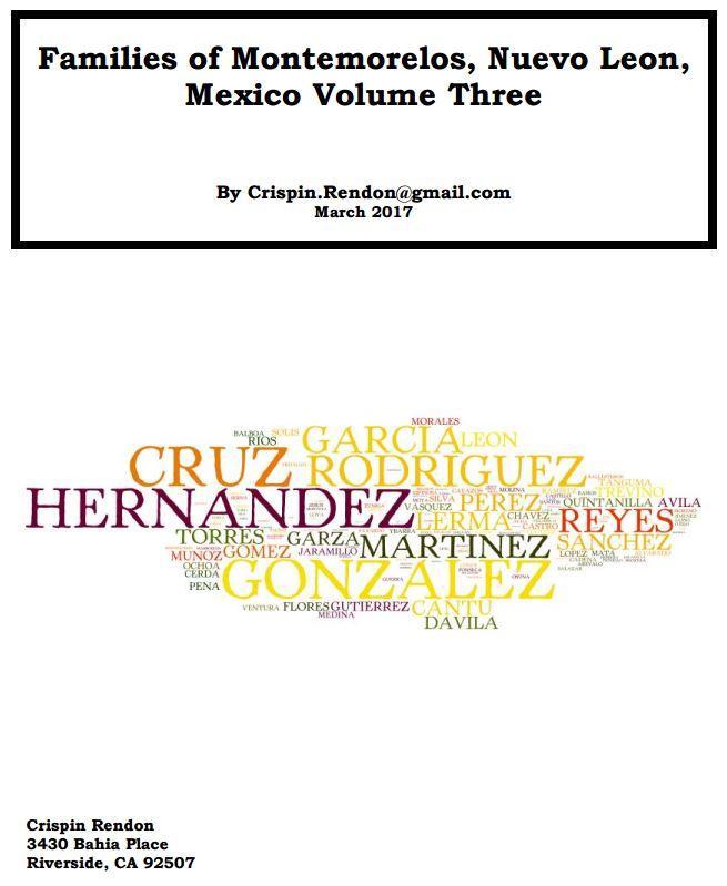 Families of Montemorelos, Nuevo Leon, Mexico Volume Three