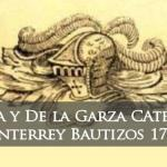 Bautizos de La Catedral de Monterrey N.L. Garza y De La Garza 1731-1741