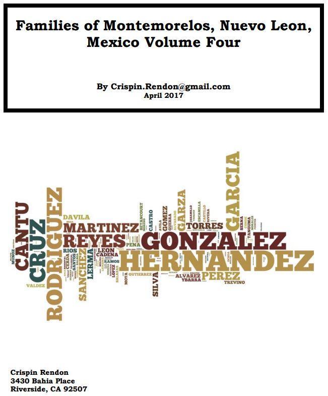Families of Montemorelos, Nuevo Leon, Mexico Volume Four