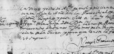 1675 Baptism of Francisco Narciso de la Garza in Monterrey, Nuevo Leon, Mexico