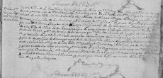 The 1783 Death Record of Jose Francisco Antonio Guerra in Mier, Tamaulipas, Mexico