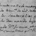 1780 Baptism of Juan Jose Marroquin in Santiago, Nuevo Leon, Mexico