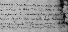 1780 Baptism of Juan Jose Marroquin in Santiago, Nuevo Leon, Mexico