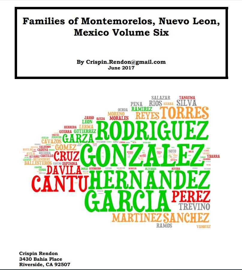 Families of Montemorelos, Nuevo Leon, Mexico Volume Six