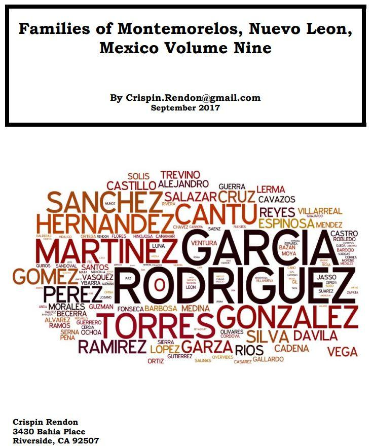 Families of Montemorelos, Nuevo Leon, Mexico Volume Nine