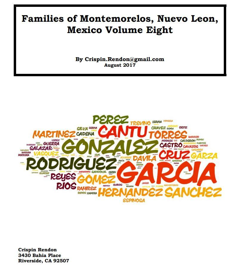 Families of Montemorelos, Nuevo Leon, Mexico Volume Eight