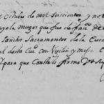 1696 Death Record of Leonor de Ayala in Monterrey, Nuevo Leon, mexico