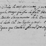 1696 Death Record of Leonor de Ayala in Monterrey, Nuevo Leon, mexico