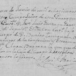1844 Death Record of Jose Benito Tanguma in Mier Tamaulipas, Mexico