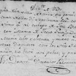 1793 Death Record of Jose Balentin de Olivares in Mier, Tamaulipas, Mexico