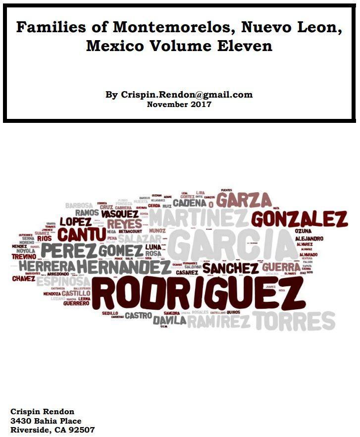 Families of Montemorelos, Nuevo Leon, Mexico Volume Eleven