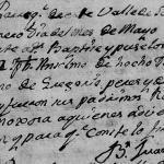 1767 Baptism of Anselmo Perez in Santiago, Nuevo Leon, Mexico