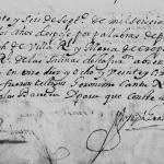 1692 Marriage of Joseph Villarreal and Maria Oropeza in Monterrey, Nuevo Leon, Mexico