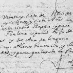 1677 Baptism of Balerio Rodriguez in Monterrey, Nuevo Leon, Mexico