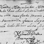 1688 Baptism of Maria Rafaela Treviño in Monterrey, Nuevo Leon, Mexico