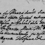 1721 Death Record of Gabriel de la Garza in Monterrey, Nuevo Leon, Mexico