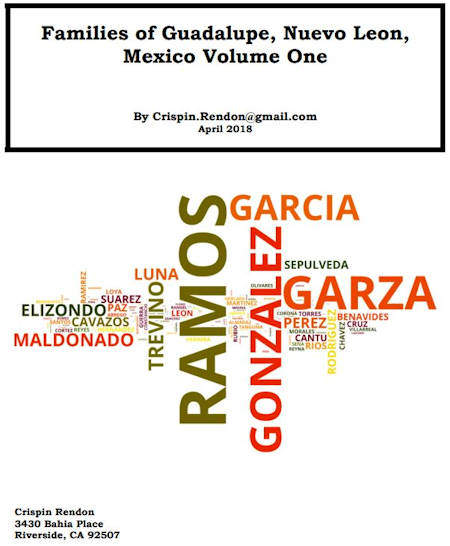 Families of Guadalupe, Nuevo Leon, Mexico Volume One
