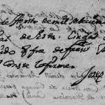 1719 Death Record of Nicolas Marroquin in Monterrey, Nuevo Leon, Mexico