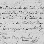 1734 Baptism of Maria Leonor de Treviño in Monterrey, Nuevo Leon, Mexico