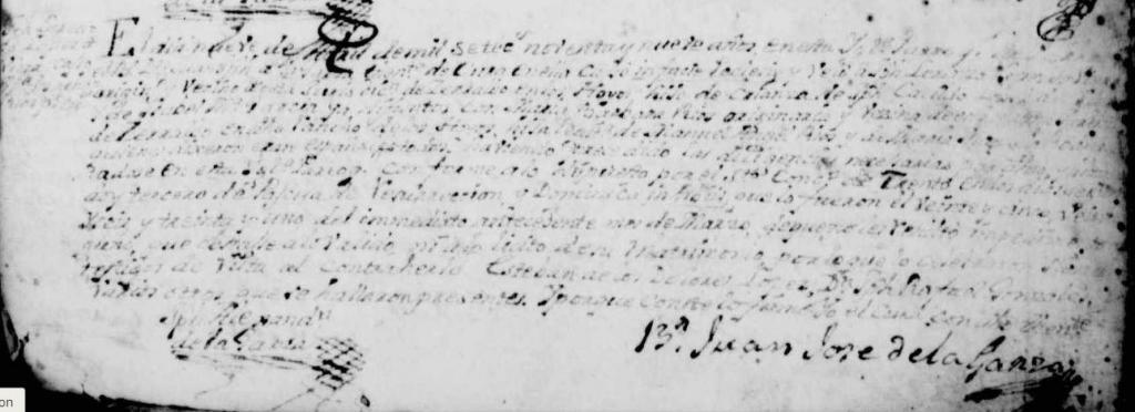 1799 Marriage of Jose Lorenzo Lopez and Maria Barbara Rios