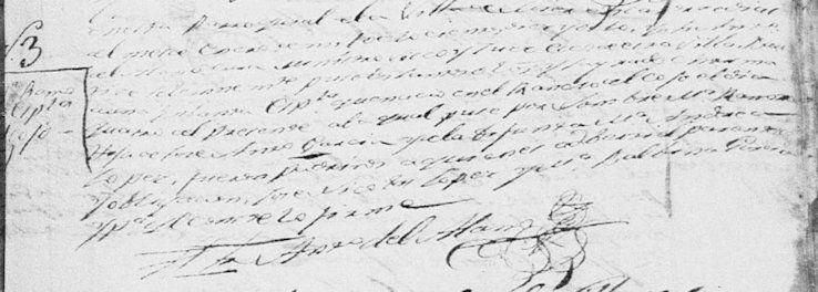1818 Baptism of Maria Ramona Garcia Lopez