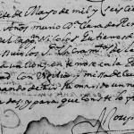 1687 Death Record of Clara de Trevino Renteria
