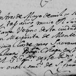 1673 Death Record of Juan de la Garza