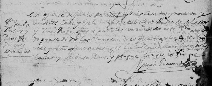 1691 Marriage of Pedro de Salazar and Ines Rodriguez Montemayor