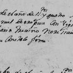 1704 Death Record of Manuel Perez de Oropeza