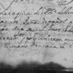 1734 Death Record of Jose Jacinto Pena