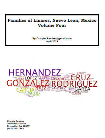 Families of Linares, Nuevo Leon, Mexico Volume Four