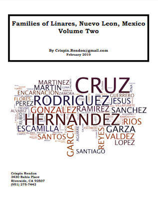Families of Linares, Nuevo Leon, Mexico Volume Two
