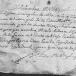 1786 Baptism Record of Maria Andrea Lopez