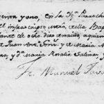 1791 Baptism Record of Jose Irineo Gonzalez de Hinojosa