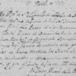 1773 Death Record of Isabel Maria de Benavides