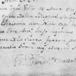 1796 Baptism Record of Jose Antonio Garcia