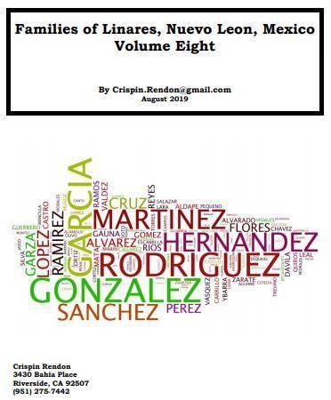 Families of Linares, Nuevo Leon, Mexico Volume Eight