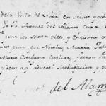 1802 Baptism Record of Maria Juliana Trevino