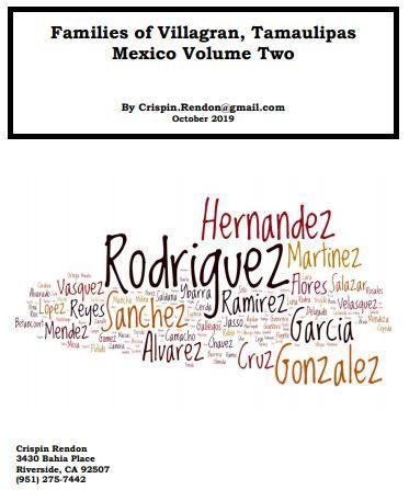 Families of Villagran, Tamaulipas, Mexico Volume Two