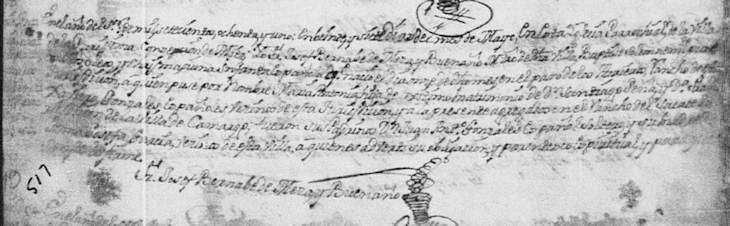 1781 Baptism Record of Maria Antonia Pena