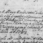 1783 Baptism Record of Maria Tomasa Sanchez