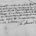 1791 Death Record of Jose Joaquin Salinas
