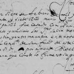 1677 Death Record of Agustin de Saldivar