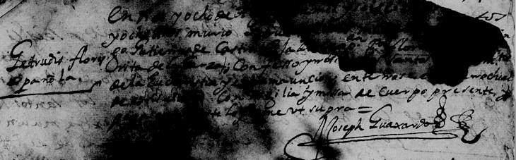 1688 Death Record of Gertrudis Flores